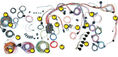 1969-1972 chevy nova classic update kit