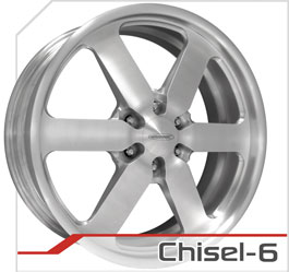 budnik wheels Six-Lug Series chisel-6
